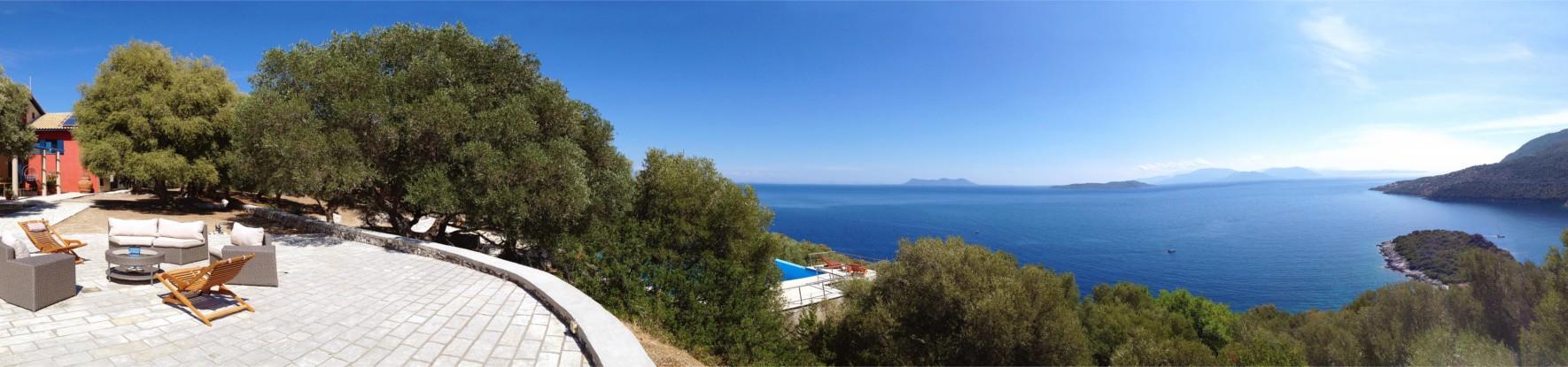 Villa panoramic view