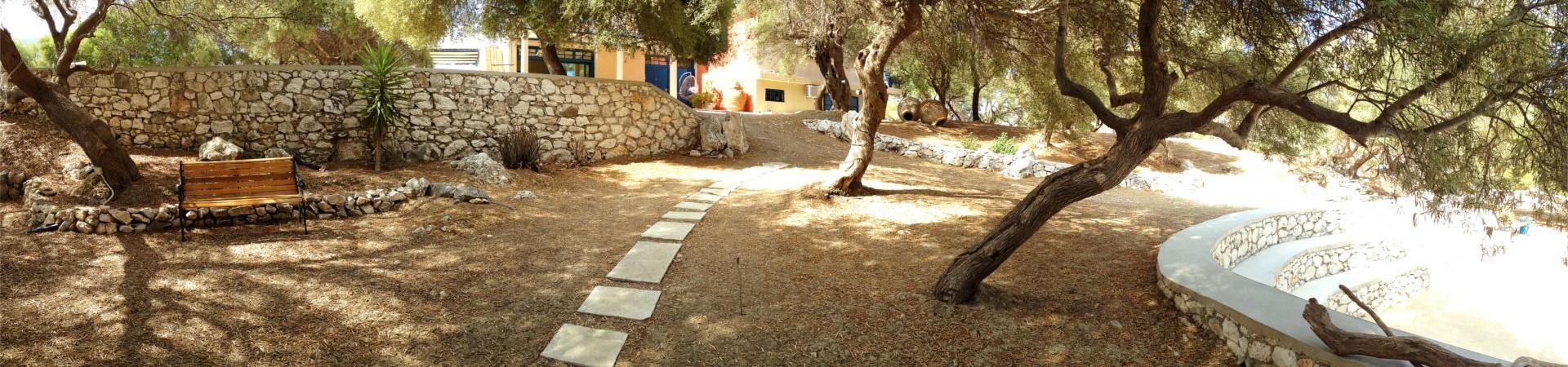 The villa's yard