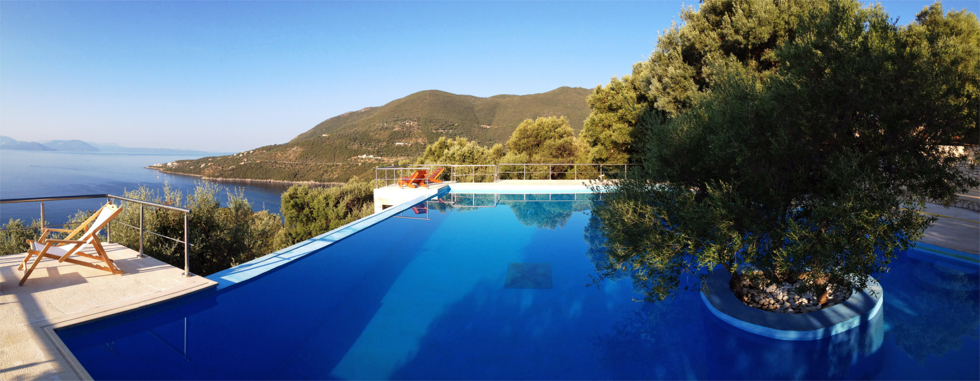 The villa's pool
